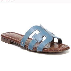 NWT Sam Edelman Bay cutout blue slide sandal 8.5